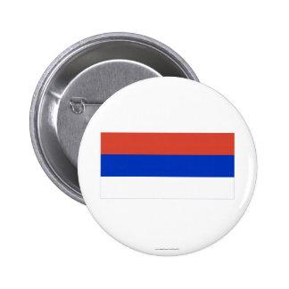 Bandera del República Serbia Pin Redondo 5 Cm