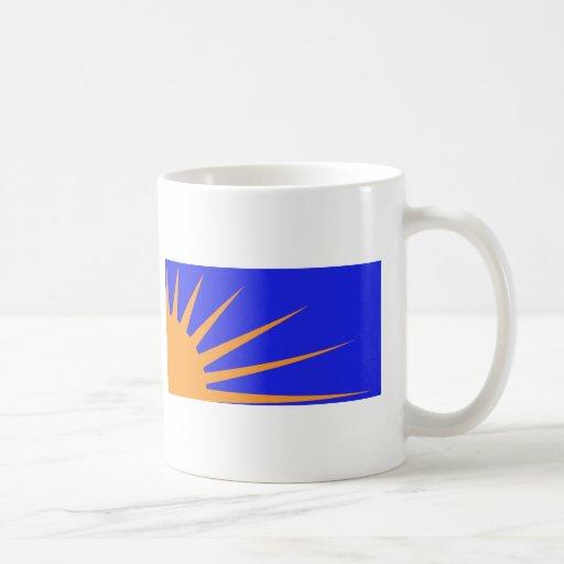 Bandera del resplandor solar tazas
