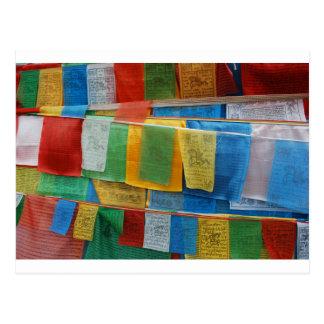 Bandera del rezo postales