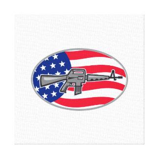 Bandera del rifle de asalto del potro AR-15 de Arm Impresiones En Lienzo Estiradas