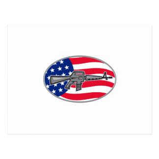 Bandera del rifle de asalto del potro AR-15 de Postales