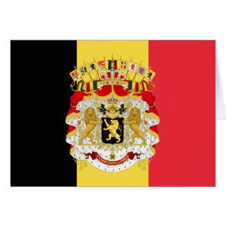 Bandera del rojo amarillo negro de Bélgica Tarjeta De Felicitación
