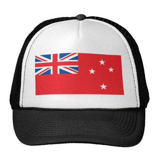 Bandera del rojo de Nueva Zelanda Gorras