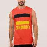 Bandera del rojo del texto amarillo de Alemania Camiseta Sin Mangas