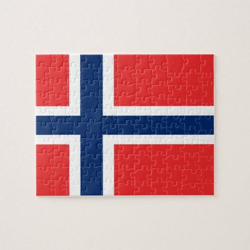 Bandera del rompecabezas de Noruega