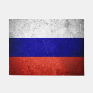 Bandera del ruso del Grunge Felpudo