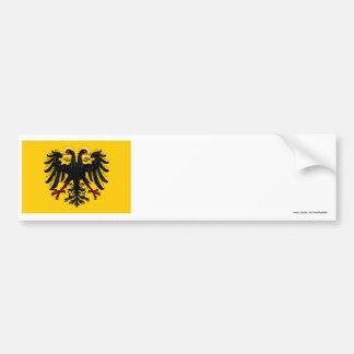 Bandera del Sacro Imperio Romano Etiqueta De Parachoque