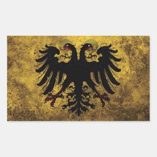 Bandera del Sacro Imperio Romano del Grunge Pegatina Rectangular