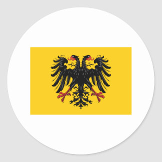 Bandera del Sacro Imperio Romano Pegatina Redonda