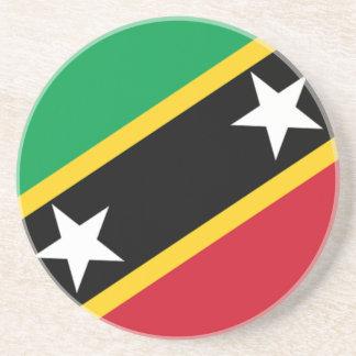 Bandera del santo San Cristobal y Nevis Posavasos Manualidades