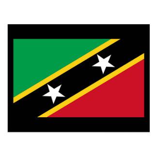 Bandera del santo San Cristobal y Nevis Tarjetas Postales