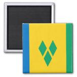 Bandera del santo Vincent Imán Para Frigorifico