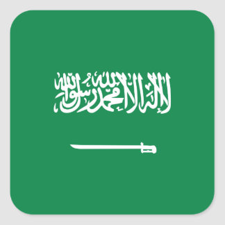 Bandera del saudí calcomania cuadradas personalizada