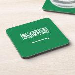 Bandera del saudí posavasos de bebidas