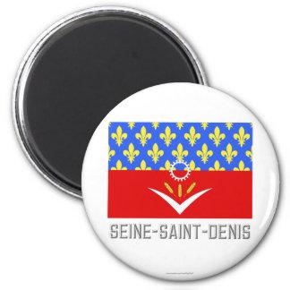 Bandera del Seine-Saint-Denis con nombre Imanes