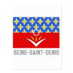 Bandera del Seine-Saint-Denis con nombre Postales