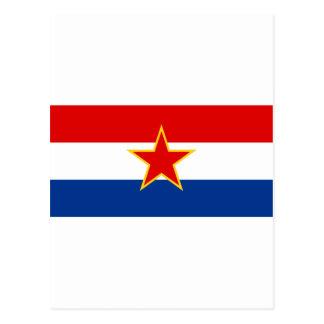 Bandera del SENIOR Croacia Tarjeta Postal