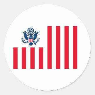 Bandera del servicio de aduanas de Estados Unidos Etiqueta Redonda