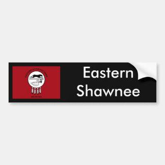 Bandera del Shawnee del este Pegatina De Parachoque