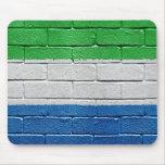 Bandera del Sierra Leone Alfombrillas De Ratón
