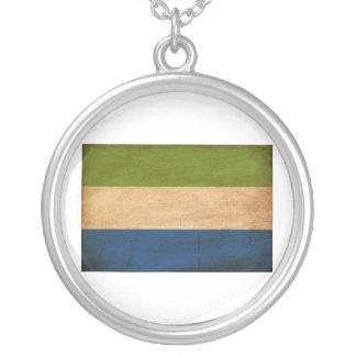 Bandera del Sierra Leone Colgante Redondo