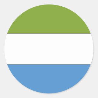 Bandera del Sierra Leone Pegatina Redonda