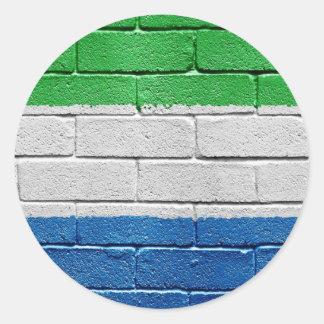 Bandera del Sierra Leone Etiquetas Redondas