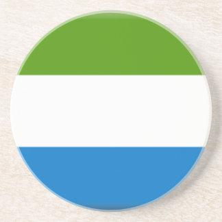Bandera del Sierra Leone Posavasos Cerveza