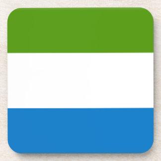 Bandera del Sierra Leone Posavasos De Bebidas