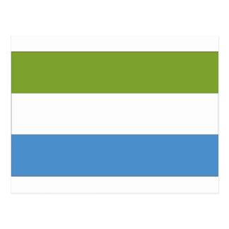 Bandera del Sierra Leone Postales