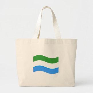 Bandera del Sierra Leone que agita Bolsas De Mano