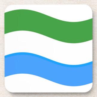 Bandera del Sierra Leone que agita Posavasos