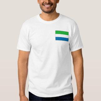 Bandera del Sierra Leone y camiseta del mapa Playera