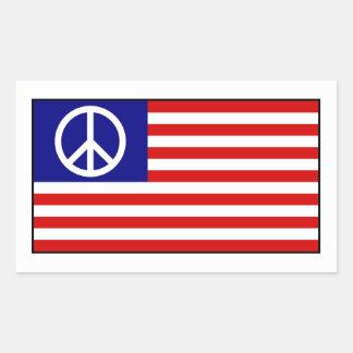 Bandera del signo de la paz de los E.E.U.U. Rectangular Altavoces