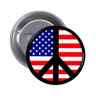 Bandera del símbolo de paz pins