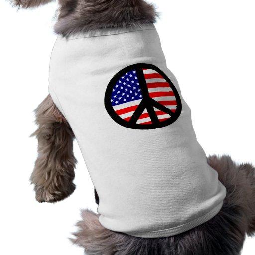 Bandera del símbolo de paz ropa de perro