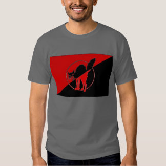 Bandera del sindicalista de Anarcho con el gato Poleras