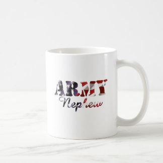 Bandera del sobrino del ejército taza de café
