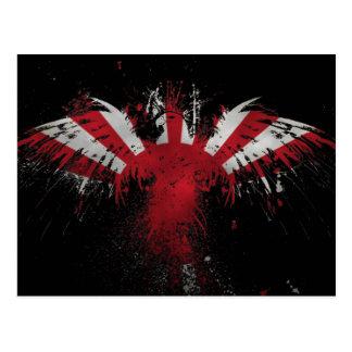 ¡Bandera del sol naciente de Eagle del japonés! Postal