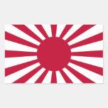 Bandera del sol naciente de Japón Rectangular Pegatinas