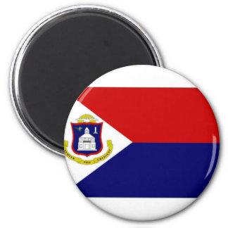 Bandera del St Maarten de Antillas holandesas Imán Redondo 5 Cm
