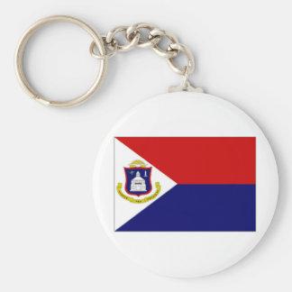 Bandera del St Maarten de Antillas holandesas Llavero Redondo Tipo Pin