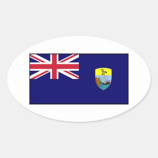 Bandera del St Santa Helena Pegatina De Ovaladas