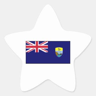 Bandera del St Santa Helena Calcomanías Forma De Estrella Personalizadas