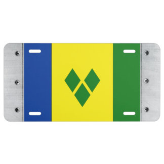 Bandera del St. Vincent Placa De Matrícula