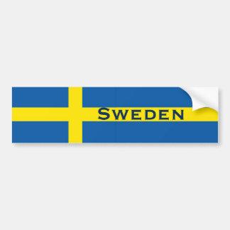 Bandera del sueco de Suecia Pegatina De Parachoque