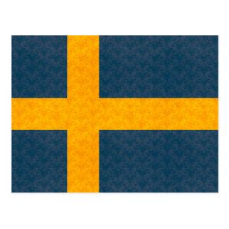 Bandera del sueco del modelo del vintage postal