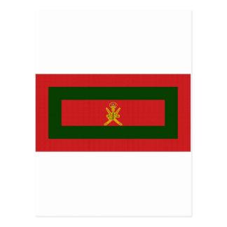 Bandera del sultán de Omán Tarjetas Postales