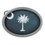 Bandera del sur de Carolinan; Hebilla De Cinturon Oval
