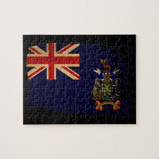 Bandera del sur de Georgia y de las islas de bocad Puzzle Con Fotos